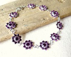 Swarovski Amethyst Purple Crystal Bracelet Purple by JBMDesigns