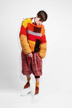 Exaggerated Knitwear Catalogs : Cynthia Fong Graduate Collection