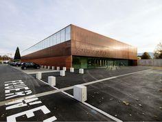 Sports Hall St Martin by Dietger Wissounig #copper #bronze #cobre #bronce