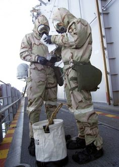 navy shipboard chemical radiological biological and nuclear | US Navy 030116-N-5027S-005 Ship^rsquo,s personnel go through chemical ...