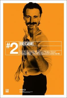 Trainspotting poster - love this series Mark Blamire (now of Blanka and Print-Process) and Rob O'Connor of Stylorouge