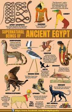 Egyptian mythical beasts (and some common animals without mystery). Egyptian mythical beasts (and some common animals without mystery). Egyptian Mythology, Egyptian Symbols, Egyptian Goddess, Ancient Egyptian Art, Mythological Creatures, Mythical Creatures, Beltaine, Myths & Monsters, Sea Monsters