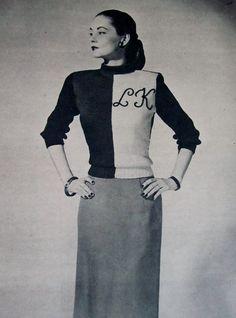 1940s Knit Dress / MODERN KNITTING Pattern Book / by 4birdsvintage