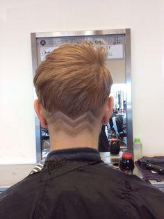 Short hair chevron nape fade