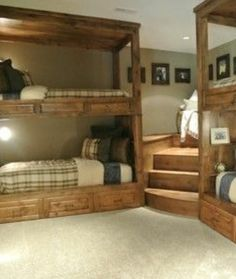 For the bedroom decor, the Custom Bunk Bed Designs is one of the great home to apply. It is a great home, which will be great to offer the comfortable place Triple Bunk Beds, Bunk Beds Built In, Bunk Beds With Stairs, Kids Bunk Beds, Corner Bunk Beds, Built In Beds For Kids, Boys Bunk Bed Room Ideas, Cabin Bunk Beds, Adult Bunk Beds