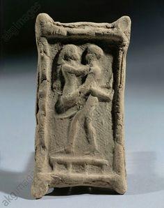 Holy wedding coupling couple. Sumerian, 2nd millenium. Iraq
