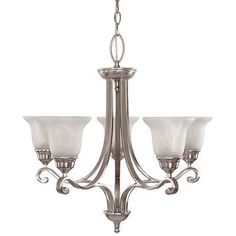 Kijiji - Buy, Sell & Save with Canada's Local Classifieds 5 Light Chandelier, Out Of Style, Glass Shades, Light Fixtures, Ceiling Lights, Steel, Lighting, Elegant, Bulbs