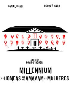 Cartaz minimalista sobre o filme Millennium