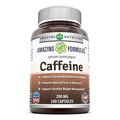 Amazing Formulas Caffeine Dietary Supplement  200 MG  240 Capsules >>> You can get more details by clicking on the image.(It is Amazon affiliate link) #company