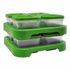 Freeze or refrigerate fresh homemade baby food for later: Green sprouts Polypropylene Freezer Cubes