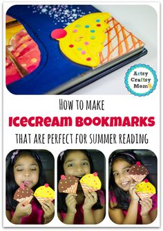 Even the bookmarks turn cool and tempting! Presenting Steps & a video on How to make Icecream Bookmarks perfect for summer