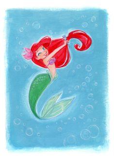 Princess Pinup - Ariel: Art Print