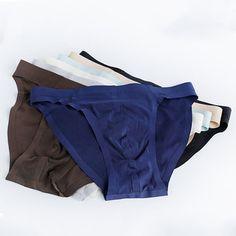 b3375293e9 Sexy Ice Silk Seamless Underwear Solid Color Breathable Soft Briefs for Men  Seamless Underwear