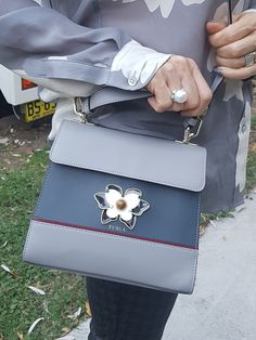 A small Furla bag is a great accessory to any outfit 50 Fashion, Fashion Styles, Fashion Design, Furla Bag, Grey Pumps, Peony Print, Old Shoes, Slingback Shoes, Other Woman