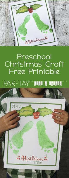 Preschool Christmas Party - Party Like a Cherry toddler christmas mistletoes craft free printable, great for newborns and toddlers! Tons of preschool christmas party ideas and tips Toddler Christmas, Babies First Christmas, Mistletoe Craft, Fun Party Themes, Party Ideas, Party Party, Preschool Christmas Crafts, Kid Crafts, Christmas Activites