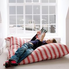 fabulous oversized cushions for the playroom
