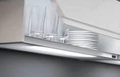With nobilia lighting systems you can light up your work space perfectly, but also create a pleasant ambiance. Beautiful Kitchen Designs, Beautiful Kitchens, Can Lights, Lighting System, Light Up, Kitchen Appliances, Palazzo, Space, Create