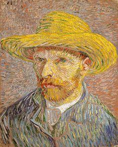 Vincent van Gogh: Self-Portrait with a Straw Hat (verso: The Potato Peeler) (67.187.70a)   Heilbrunn Timeline of Art History   The Metropoli...