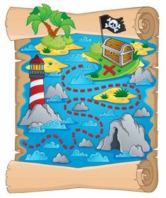 Find Treasure Map Theme Image 5 Vector stock images in HD and millions of other royalty-free stock photos, illustrations and vectors in the Shutterstock collection. Treasure Maps For Kids, Pirate Treasure Maps, Pirate Maps, Pirate Theme, Deco Pirate, Pirate Activities, Kids Wall Murals, Pirate Crafts, Pirate Birthday