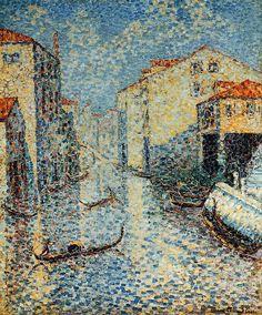 アンリ=エドモン・クロス Henri-Edmond Cross : A Venetian Canal Cross Canvas Art, Canvas Art Prints, Cross Art, Henri Matisse, Beaux Arts Paris, Pintura Exterior, Georges Seurat, Post Impressionism, Cross Paintings