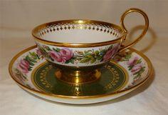 Dated 1818 - Superb SEVRES French Porcelain Etruscan Shape Cup & Saucer.