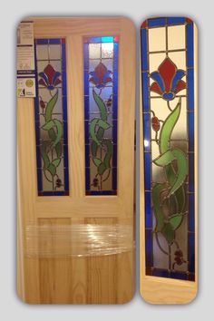 Geleta Doors | Stained Glass Internal Door (Clear Pine) Obscure Glass Ideal For Bathrooms