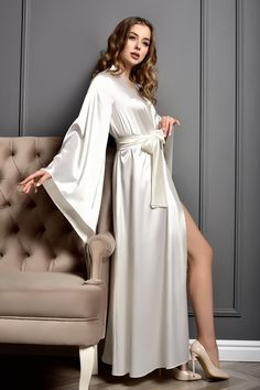 Lace Bridal Robe, Wedding Lingerie, Lingerie Set, Bridal Robes Getting Ready, Black Satin Robe, Bride Dressing Gown, Wedding Kimono, Wedding Dresses, Anarkali