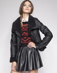 Shearling leather jacket [REv4034] - $92 : Pixie Market, Fashion-Super-Market  cozy :)