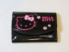 Hello Kitty Nintendo 3DS Carrying Case Black Stylus screen protectors Pre-owned #HelloKitty