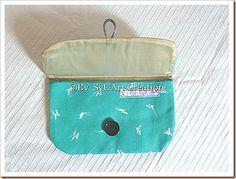 "Pochette Vintage ""Plume"" By SyL'Art"