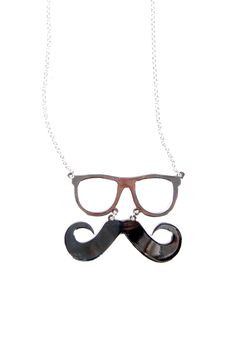 Mustache and Glasses Necklace