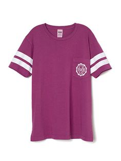 Campus Short Sleeve Tee PINK TJ-349-049 (F58)