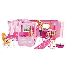 """They did it they came up with something new, oh my goodness: Barbie Pink Glamour Camper with Dolls Play Set -  Mattel  - Toys """"R"""" Us"""