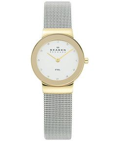 Skagen Denmark Watch, Women's Stainless Steel Mesh Bracelet 26mm 358SGSCD - All Watches - Jewelry & Watches - Macy's