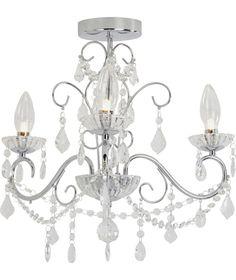 Bathroom Light Fixtures Argos buy heart of house nicoletta glass beads ceiling fitting-chrome at