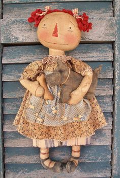 E-Pattern Scotty Dog Annie Primitive Doll PATTERN PDF via Etsy