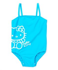 Aqua Hello Kitty One-Piece - Toddler & Girls