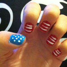 My nail art for the 4th!!