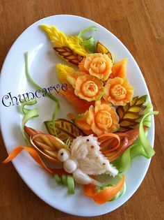 Melon Gardenia Platter | Flickr - Photo Sharing!