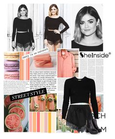 """Lucy Hale"" by tasnime-ben ❤ liked on Polyvore featuring Dirty Pretty Things, Torn by Ronny Kobo and Sheinside"