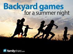 Backyard games for a summer night