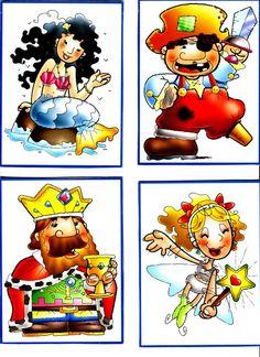 cartas para inventar cuentos - Glòria P - Àlbums web de Picasa Esl Learning, Teaching Kids, Abc Activities, Writer Workshop, Cartoon Memes, Math For Kids, After School, Bowser, Storytelling