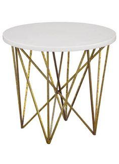 George Side Table. Love the antiqued gold legs.
