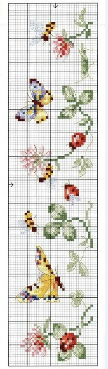 This Pin was discovered by Ste Cross Stitch Bookmarks, Mini Cross Stitch, Cross Stitch Borders, Cross Stitch Charts, Cross Stitch Designs, Cross Stitching, Cross Stitch Embroidery, Embroidery Patterns, Cross Stitch Patterns