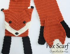 The majestic crochet fox scarf is a great way to show your love of foxes! Beautiful handmade and lovely!