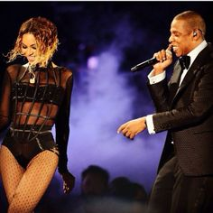 Beyonce & Jay-Z--beautiful, powerful and loving couple. Most men would be intimidated by a strong woman but not Jay-Z.
