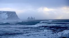 I went to Iceland in February and thought you might like this picture I took of the Atlantic shortly before arriving in Vik harbour [3840  2160] [OC] #reddit