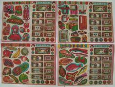 昭和レトロなお買い物遊び★おどうぐや&魚屋2種Aセット_4種類でシリーズが揃います