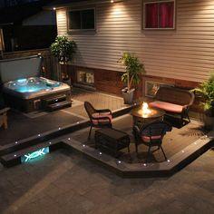 Outdoor Recessed Dek Dot LED Light Kit - LED Dock Lighting - Shop All Categories (led exterior lighting backyards) Outdoor Recessed Lighting, Dock Lighting, Hot Tub Backyard, Backyard Patio, Pergola Garden, Indoor Fire Pit, Led Light Kits, Exterior Lighting, Backyards