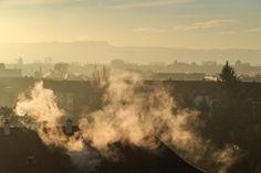 Smoke Over Rooftops Rooftops, Basel, Switzerland, Clouds, Smoke, Photography, Outdoor, Vape, Fotografie